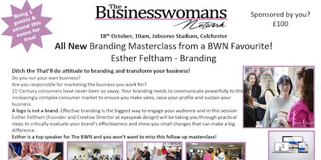 All New Branding Masterclass from a BWN Favourite! Esther Feltham - Branding & Essex Networking tickets