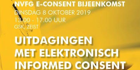 """NVFG E-Consent bijeenkomst """"Uitdagingen met elektronisch informed consent in Nederland"""" tickets"""
