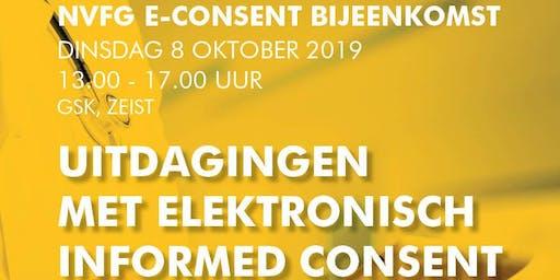 """NVFG E-Consent bijeenkomst """"Uitdagingen met elektronisch informed consent in Nederland"""""""