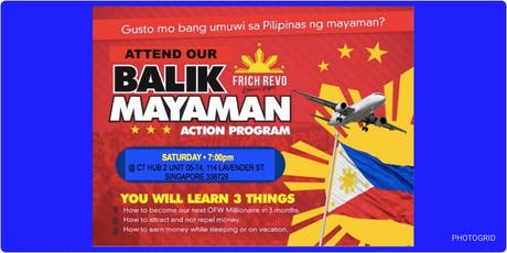Balik Mayaman tickets