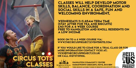 Circus Tots - 6 Week Course (Wednesdays)  tickets