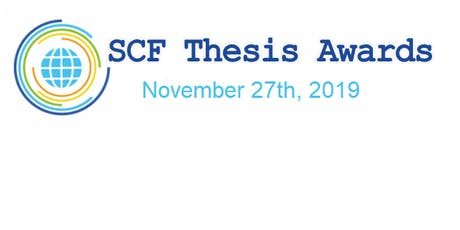 SCF Community Thesis Awards 2019 tickets