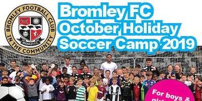October Holiday Soccer Camp 2019