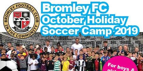 October Holiday Soccer Camp 2019 tickets