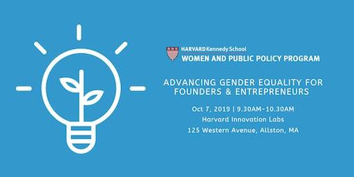 Advancing Gender Equality for Founders & Entrepreneurs