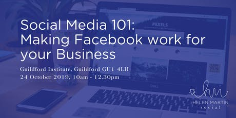 Social Media 101 : Making Facebook work for your Business tickets