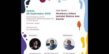 """IKJ Talkshow: Membaca Urban Melalui Sketsa dan Komik"""" tickets"""