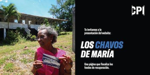 """Presentación del website """"Los chavos de María"""""""