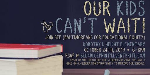 Baltimore #Blueprint4MD Public Forum