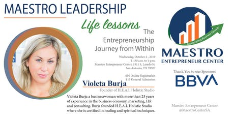 Life Lessons with Violeta Burja [LUNCHEON] tickets