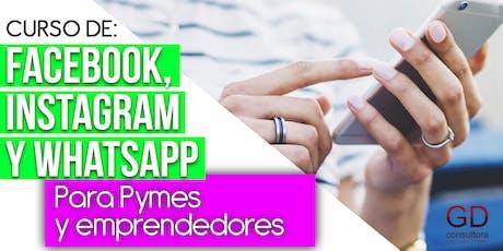 Gestión y estrategias para Facebook, Instagram y Whatsapp entradas
