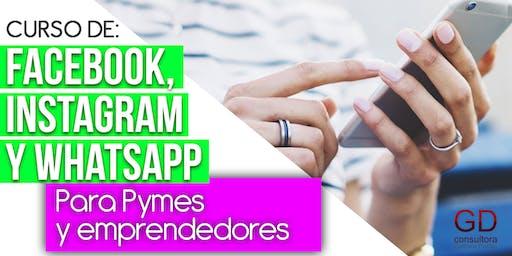 Gestión y estrategias para Facebook, Instagram y Whatsapp