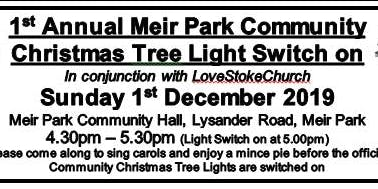 Meir Park Residents Association - 1st Annual Christmas Tree Lights Switch On