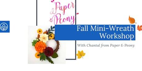 Fall Paper Flower Mini-Wreath Workshop tickets
