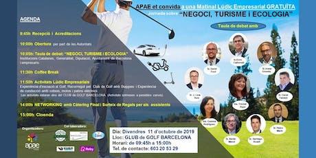 "APAE et convida a la Jornada GRATUÏTA ""NEGOCI, TURISME I ECOLOGIA"" entradas"