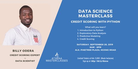 Data Science Masterclass: Credit Scoring with Python tickets
