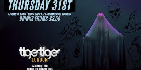 Tiger Tiger Halloween 2019 tickets