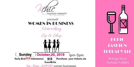Women in business networking Sip and shop tickets