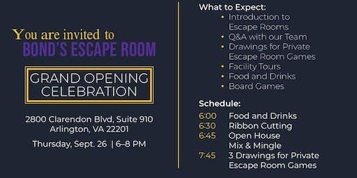 Bond's Escape Room Grand Opening