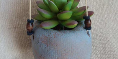 Pints and Pottery: Hanging Succulent Planter