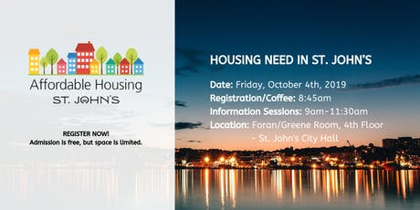 Housing Need in St. John's tickets