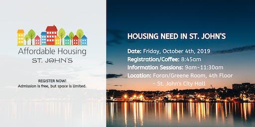 Housing Need in St. John's