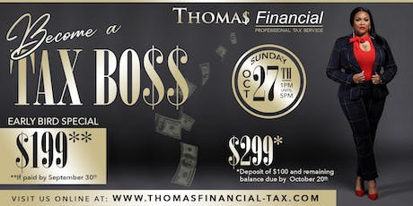 Start Your Own Tax Business! tickets