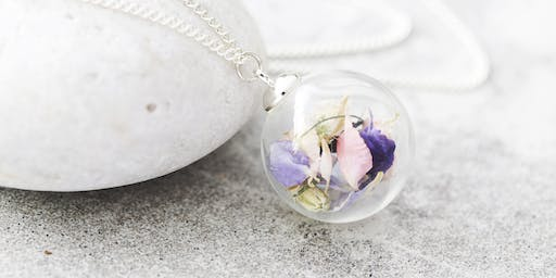 Make Your Own Botanical Keepsake Glass Necklace With Lizzie Chambers - workshop