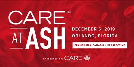 CARE™ at ASH 2019 tickets