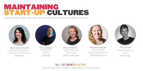 Maintaining Start-up Cultures (Berlin Meet-up) tickets