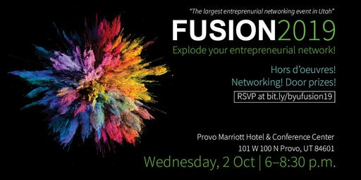 Fusion 2019: Explode Your Entrepreneurial Network! (The largest entrepreneurial networking event in Utah)