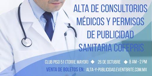 Alta de Consultorios Médicos y Permisos de Publicidad Sanitaria COFEPRIS