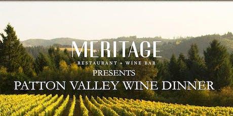 Patton Valley Wine Dinner tickets