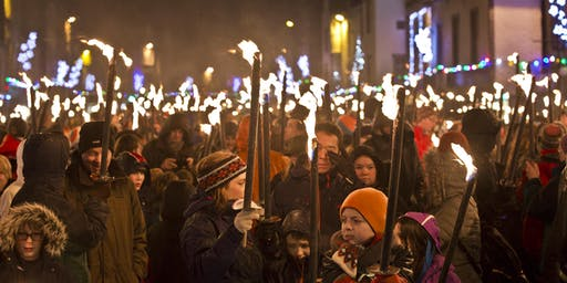 Peebles Hogmanay Torchlight Procession 2019