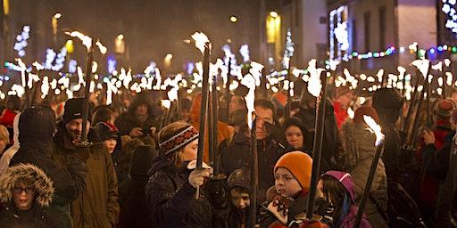 Peebles Hogmanay Torchlight Procession 2019