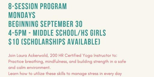 Teen Yoga - Avera Behavioral Health of Brookings
