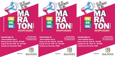 """3° Maratón Nocturna Inclusiva """"Todos Podemos"""" - Carlos Paz - 2K, 4K y 8K"""