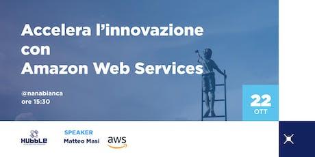 Accelera l'innovazione con Amazon Web Services biglietti