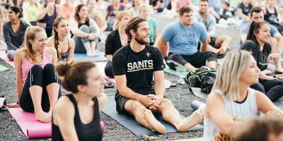 Who Dat Yoga Warm Up + Mimosa Toast