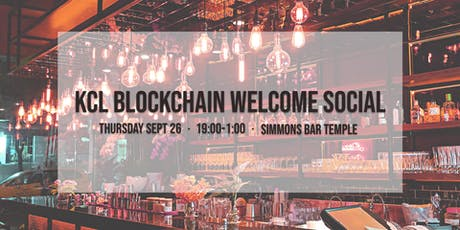 KCL Blockchain Welcome Social tickets