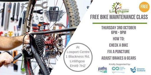 Free Bike Maintenance Class in Linlithgow
