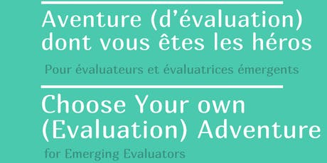 Emerging Evaluators : Choose You Own Evaluation Adventure! billets