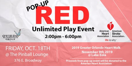 Pop-Up Red Unlimited Play tickets