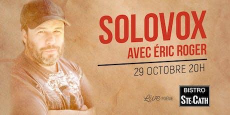 Solovox avec Éric Roger tickets