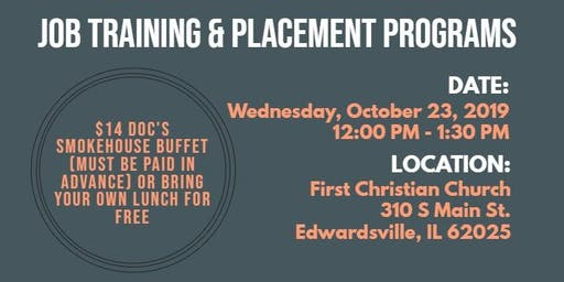 Lunch & Learn Workshop: Job Training & Placement Programs