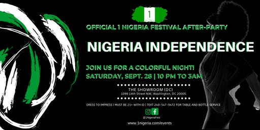 Official 1 Nigeria Festival After-Party (PRIVATE & EXCLUSIVE VENUE)