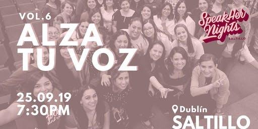 Speakher Nights Saltillo Vol.6 Alza tu Voz