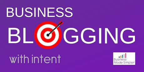 Business Blogging with Intent tickets