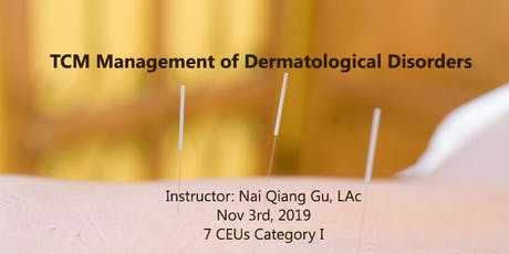 TCM Management of Dermatological Disorders tickets