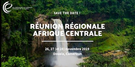 Réunion régionale CCE 2019 - Cameroun billets